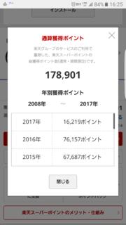 楽天のポイント累計17万